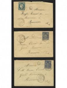 Tres cartas Francia S. XIX III República Francia - Siglo XIX.