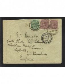 Carta India Británica redireccionada Colonias y posesiones - Siglo XIX.