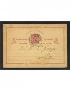 Tarjeta entero postal Guinea Portuguesa Colonias y posesiones - Siglo XIX.