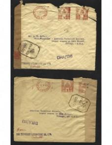 Tres cartas India Británica censura militar II Guerra Mundial Bando Aliado - II Guerra Mundial.