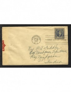 Carta EE.UU. censura militar II Guerra Mundial Bando Aliado - II Guerra Mundial.