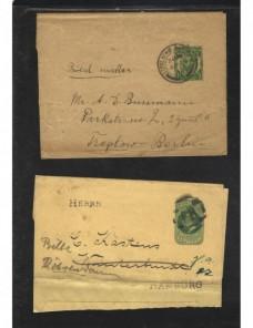 Dos fajas de impresos entero postales Gran Bretaña Gran Bretaña - 1900 a 1930.