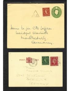 Dos piezas entero postales Gran Bretaña Gran Bretaña - Desde 1950.