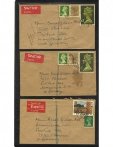 Seis cartas correo aéreo Gran Bretaña Gran Bretaña - Desde 1950.