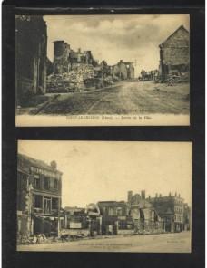 Cuatro tarjetas postales Francia I Guerra Mundial Bando Aliado - I Guerra Mundial.