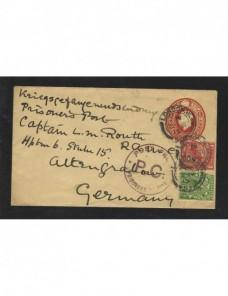 Sobre entero postal Gran Bretaña censura militar I Guerra Mundial Prisioneros de guerra - I Guerra Mundial.