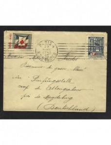 Carta Francia con viñetas Cruz Roja I Guerra Mundial Prisioneros de guerra - I Guerra Mundial.