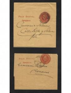 Cuatro fajas entero postales de impresos Argentina Otros Mundial - 1900 a 1930.