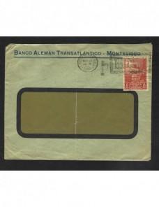 Carta Uruguay matasellos especial Otros Mundial - 1900 a 1930.