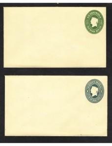 Dos sobres entero postales Guatemala nuevos Otros Mundial - Siglo XIX.