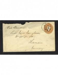 Sobre entero postal Birmania correo marítimo Colonias y posesiones - Siglo XIX.