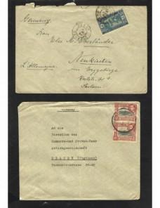 Tres cartas colonias africanas correo aéreo Colonias y posesiones - 1931 a 1950.