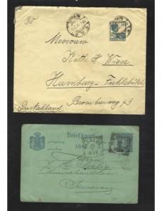 Tres cartas India Holandesa Colonias y posesiones - 1900 a 1930.