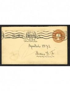 Sobre entero postal México Otros Mundial - 1900 a 1930.