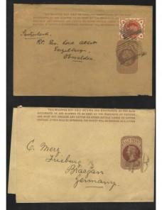 Tres fajas de impresos entero postales Gran Bretaña Gran Bretaña - Siglo XIX.