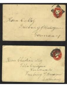 Dos sobres entero postales Gran Bretaña Gran Bretaña - Siglo XIX.