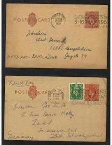 Dos tarjetas entero postales Gran Bretaña Gran Bretaña - Desde 1950.