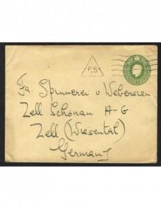 Sobre entero postal Gran Bretaña  Gran Bretaña - 1900 a 1930.