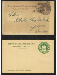 Cuatro tarjetas entero postales México Otros Europa - 1900 a 1930.