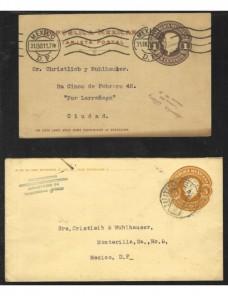 Tres entero postales México Otros Europa - 1900 a 1930.