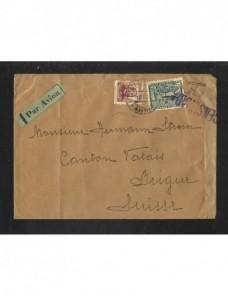 Carta II República censura militar correo aéreo y tasa Zona Republicana - Guerra Civil Española.