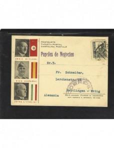 Tarjeta postal propagandística censura militar Bilbao Zona Nacional - Guerra Civil Española.