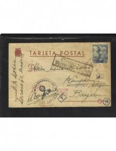 Tarjeta postal España doble censura España - 1931 a 1950.