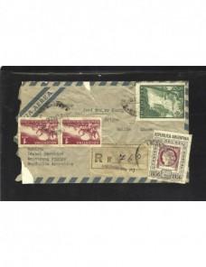Carta correo aéreo y certificado Argentina Otros Mundial - Desde 1950.