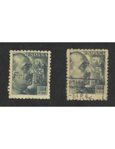 Sello España con error de dentado desplazado España - 1931 a 1950.