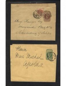 Dos fajas de impresos Gran Bretaña Gran Bretaña - Siglo XIX.