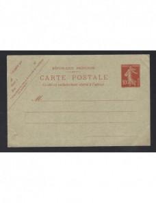 Tarjeta entero postal Francia nueva Francia - 1900 a 1930.