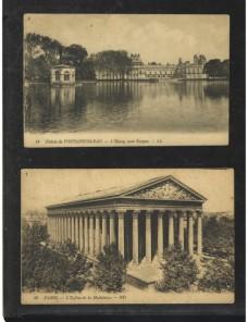 Tres tarjetas postales ilustradas Francia nuevas Francia - 1900 a 1930.