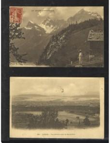 Dos tarjetas postales ilustradas Francia nuevas Francia - 1900 a 1930.