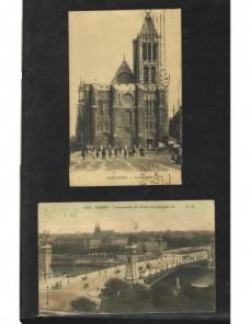 Dos tarjetas postales ilustradas Francia Francia - 1900 a 1930.