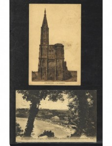 Dos tarjetas postales ilustradas Francia Francia - 1931 a 1950.