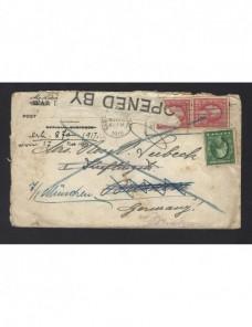 Carta Estados Unidos censura militar I Guerra Mundial Bando Aliado - I Guerra Mundial.