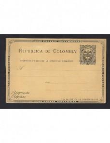 Tarjeta entero postal Colombia nueva Otros Mundial - Siglo XIX.