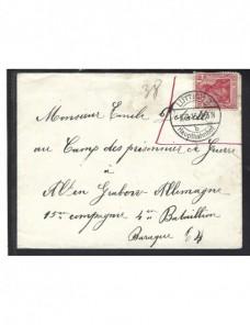 Carta Bélgica prisionero de guerra en Alemania I Guerra Mundial Prisioneros de guerra - I Guerra Mundial.