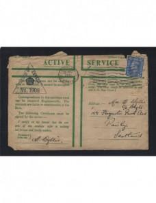 Carta correo de campaña Gran Brentaña II Guerra Mundial censura militar Bando Aliado - II Guerra Mundial.