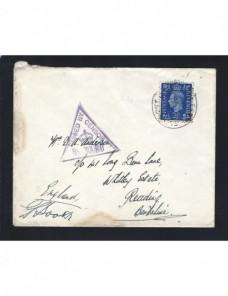 Carta Gran Brentaña II Guerra Mundial censura militar Bando Aliado - II Guerra Mundial.