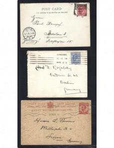 Tres tarjetas postales Gran Bretaña Gran Bretaña - 1900 a 1930.