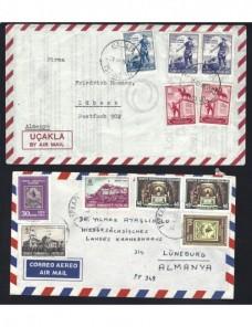 Cuatro cartas correo aéreo Turquía Otros Mundial - Desde 1950.