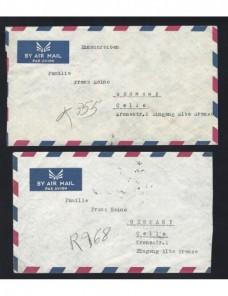 Dos cartas correo aéreo y certificado Afganistán Otros Mundial - Desde 1950.