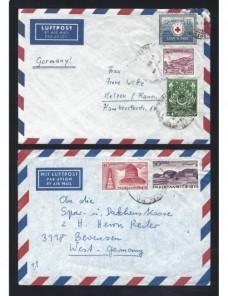 Cinco cartas correo aéreo Pakistán Otros Mundial - Desde 1950.