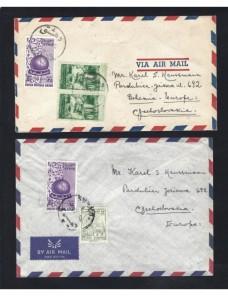 Dos cartas correo aéreo Siria Otros Mundial - Desde 1950.