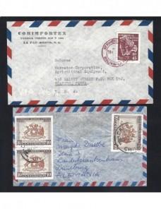 Seis cartas correo aéreo estados iberoamericanos Otros Mundial - Desde 1950.
