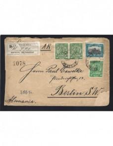 Carta certificada Paraguay Otros Mundial - 1900 a 1930.