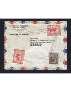 Carta correo aéreo Venezuela Otros Mundial - Desde 1950.