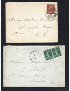 Cuatro cartas Francia Francia - 1900 a 1930.