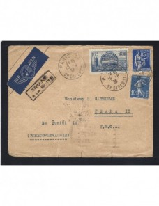 Carta correo aéreo Francia Francia - 1931 a 1950.